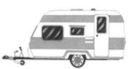 caravan Satelliet schotel ontvangst voor op de Camping
