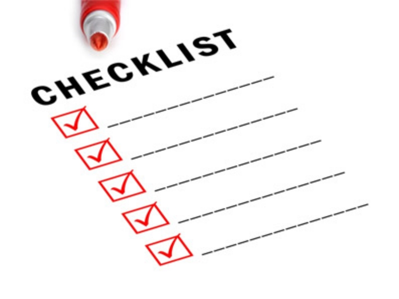checklist Financien